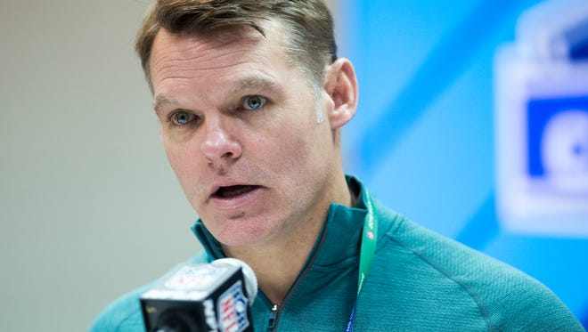 """I'd like to (spend it all),"" Colts GM Chris Ballard half-joked last month of his team's $72 million in salary cap space. ""Doesn't mean we will."""