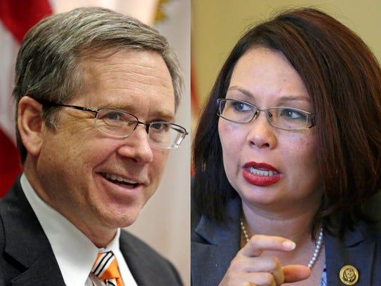 Illinois Republican Sen. Mark Kirk and Democratic Rep.