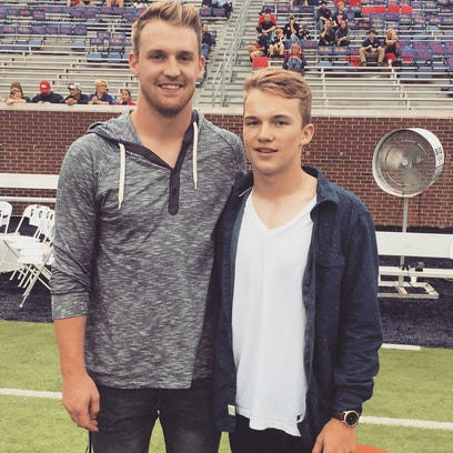 Former Giles County and Ole Miss quarterback Bo Wallace,