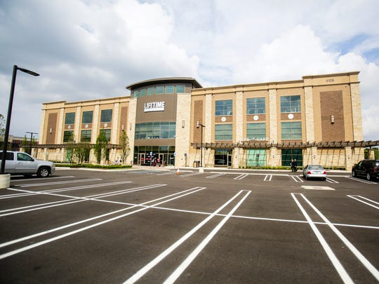 The Life Time Athletic fitness club, a 73,000 square foot, three story building, features some of the latest fitness equipment, pool, kids play space with activities, plenty of group workout space, spin and yoga classes and various other family activities seen here in Bloomfield Township, June 19, 2014.