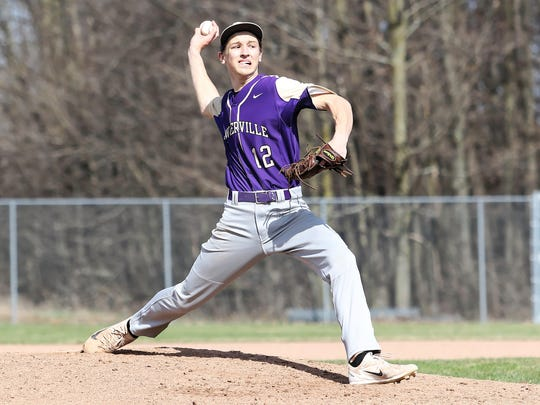 Caden Flanery is 4-2 with a 1.69 ERA for Fowlerville,