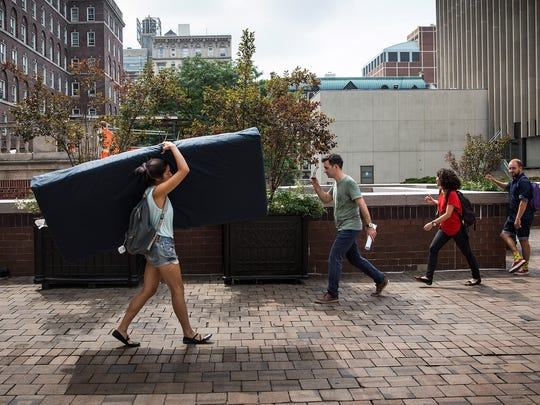 "Emma Sulkowicz carried a 50-pound mattress around the campus of Columbia University to protest the university, which she accused of a lack of action in response to her report that she was raped by a male classmate, Paul Nungesser, in 2012, when she was a sophomore. The university settled with Nungesser in July for an amount that Miltenberg, his attorney, said was ""in the high six figures."""