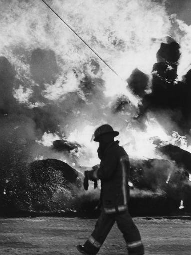 Fire at Turf Paradise in June of 1987 with a Phoenix