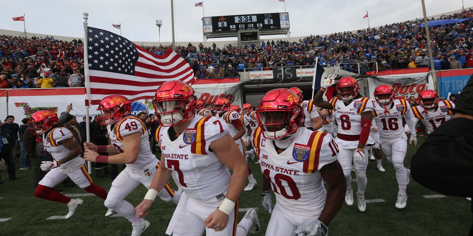 This map shows Iowa State's most frequent bowl trips