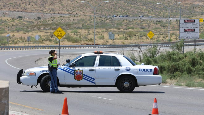 Police close Trans Mountain Drive as they investigate a fatal wreck in Northeast El Paso in early July.