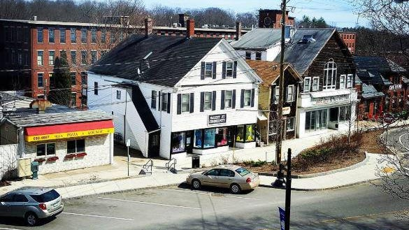 Market Street in Somersworth, as seen from the Hall at Great Falls.