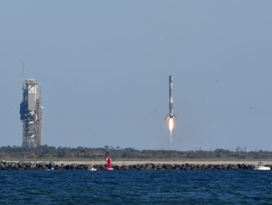 A SpaceX Falcon 9 rocket launched from Cape Canaveral