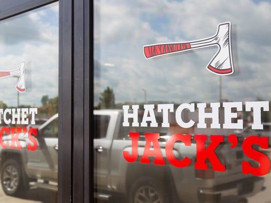 Hatchet Jack's is seen along Highway 1 in Iowa City