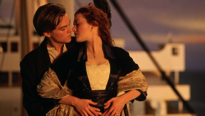 Jack (Leonardo DiCaprio) and Rose (Kate Winslet) smooching on the prow of the Titanic was fodder for millions of romantic adolescent fantasies.