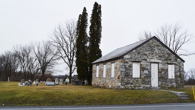 Hoke's Meeting House and Cemetery keep a watchful eye on state Route 72 south of Rocherty Road in North Cornwall Township.