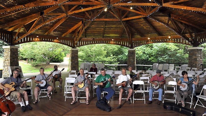 Musicians from all over the US attend the 21st annual Swannanoa Gathering at Warren Wilson College in 2012.