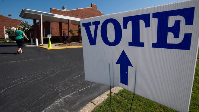 File photo of voting site located at Vaughn Park Church of Christ in Montgomery, Ala.