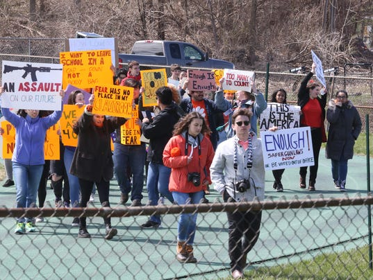 Student Walk Out 4-20-18