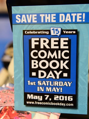 John Mizzer, manager/owner Comic World, is gearing up Wednesday, May 4, 2016 for Free Comic Book Day at the Chambersburg Mall store.