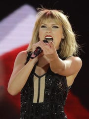 Taylor Swift performs in Austin, Texas.