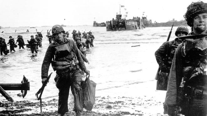 American troops moved onto Omaha Beach on June 6, 1944.