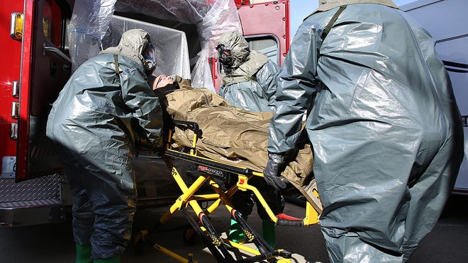 Members of the Delaware County EMS spent Monday preparing for anything whether it be Ebola or the common flu.