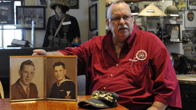 Bill Niedzwiedz, president of the New Bedford Military Museum talks about a photo of two unknown men -- one a Navy sailor -- that was donated to the museum. Bill is seeking help from the public in identifying them.
