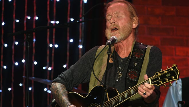 Gregg Allman performs during a tribute in his honor at Skyville Live in Nashville on Friday night.