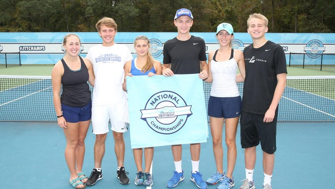 Supreme Court, out of Green Bay, placed eighth at the USTA Junior Team Tennis 18U Advanced National Championships held Oct. 21-23 in Cayce, S.C. The team consists of Charlie Parish, Claire Rotherham, John Zakowski, Mary Zakowski, Molly Plummer and Zachary Janssen. The event matched up the top 32 teams from varsious USTA sections from around the country.