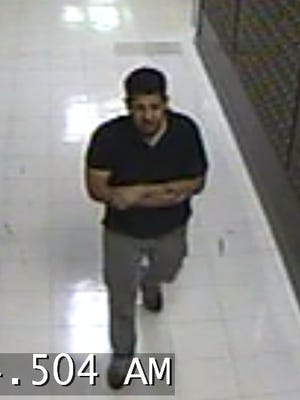 Rutgers Police say this man may be involved in a break-in  at Records Hall in New Brunswick.