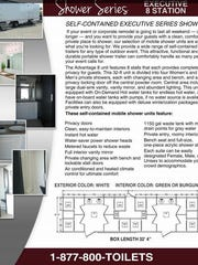 A brochure featuring a proposed shower trailer layout was featured in documents obtained by the Reno Gazette-Journal.