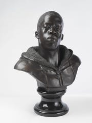 Kehinde Wiley, Houdon Paul-Louis, 2011. Bronze with polished stone base. Brooklyn Museum, Frank L. Babbott Fund and A. Augustus Healy Fund.