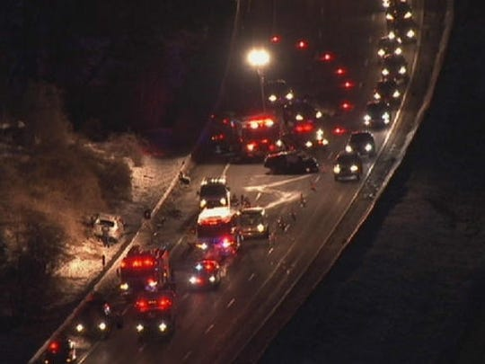 Wrong-way fatal accident on Sprain Brook Parkway