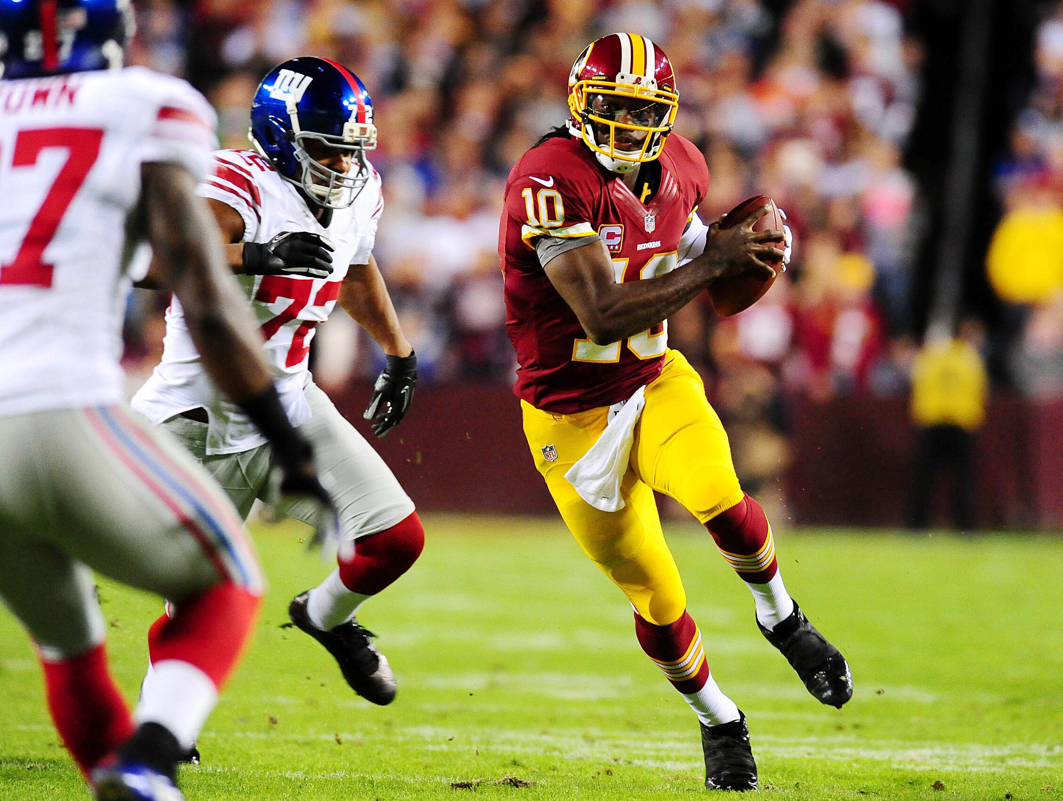 10. Robert Griffin III, Washington Redskins