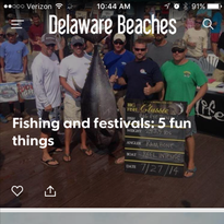 The Delaware Beaches app is now available from the Apple and Google Play stores.