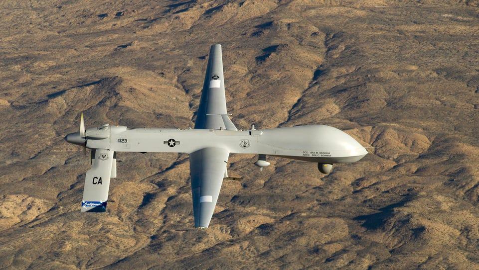 The Predator MQ-1 in flight over Southern California