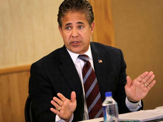 U.S. Rep Mike Bishop, R-Rochester, met with constituents