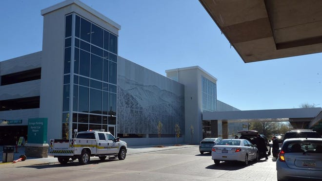Parking garage at Asheville Regional Airport.