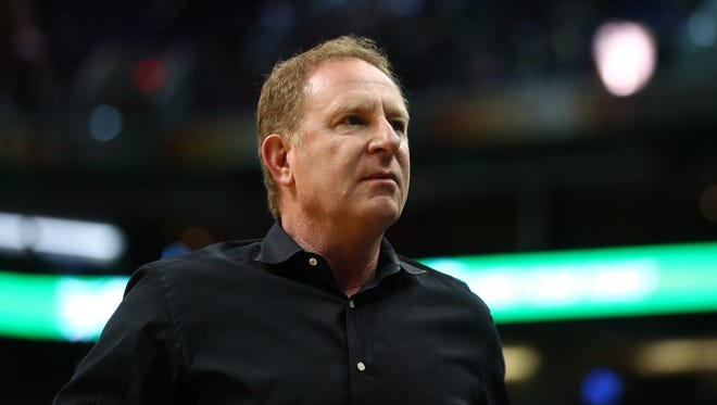 Nov 9, 2016: Phoenix Suns owner Robert Sarver against the Detroit Pistons at Talking Stick Resort Arena.