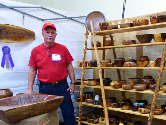 Mark McAllaster of Mark's Woodworking won best in his class at the festival.