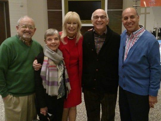 Sid Craig, Patti MacLeod, Loretta Swit, Gavin MacLeod, Ron Celona at the Coachella Valley Repertory Theater luncheon.