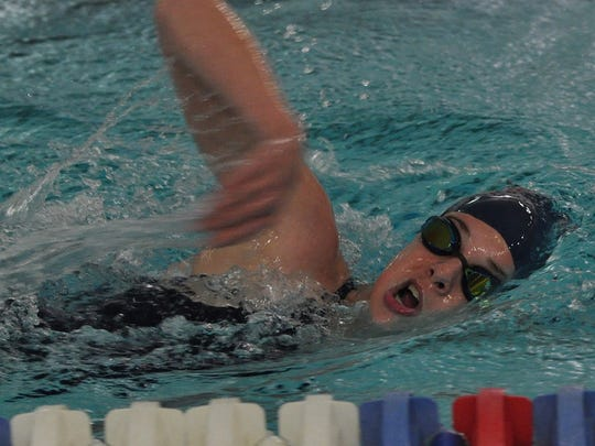 Franklin's Lauren Niemiec cuts through the water during