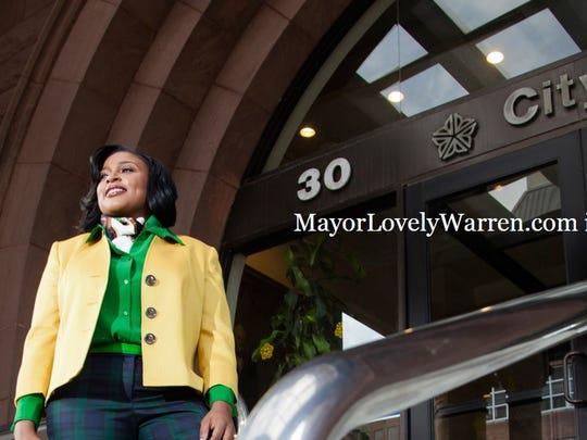 A screenshot from MayorLovelyWarren.com