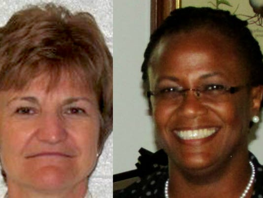 Carol Saylor, left, will serve as new chief recovery officer for the York school district. York Mayor Kim Bracey, right, will co-chair an advisory committee with Saylor.