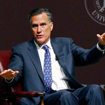 Mitt Romney speaks at Mississippi State University