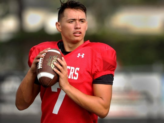 Former Newbury Park High quarterback Cameron Rising will have to sit out this season after transferring from Texas to Utah.