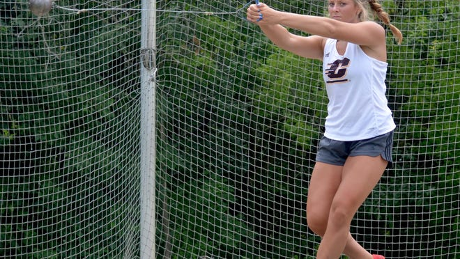Zeeland East graduate Aliyah Boeve is working on the hammer throw at Central Michigan.