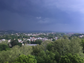 A severe thunderstorm rolls in over Woodland Park,