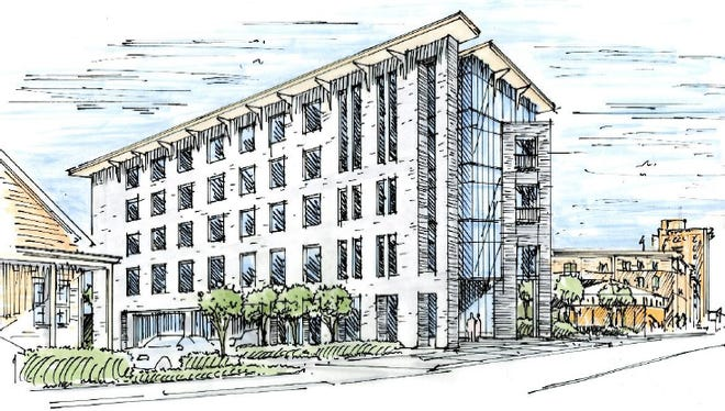 Hixardt will present plans for a $10.7 million, five story office building at 120 W Government Street in downtown Pensacola to the Architectural Review Board at its meeting on March 17.