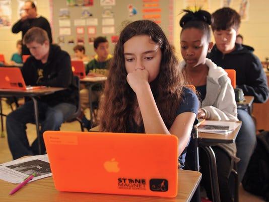 Stone Magnet Middle School laptops