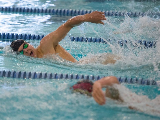 Danny Kovac of Fossil Ridge High School competes in