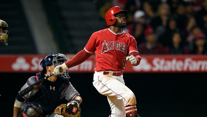 Eric Young Jr. was hitting .354 with 15 steals at Class AAA Salt Lake when he was recalled by the Angels to fill Mike Trout's spot on the roster.