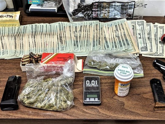 Police seized drugs, guns, and money from a Hanover