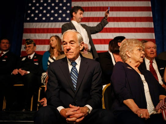 Ron Paul at the presidential announcement by his son,