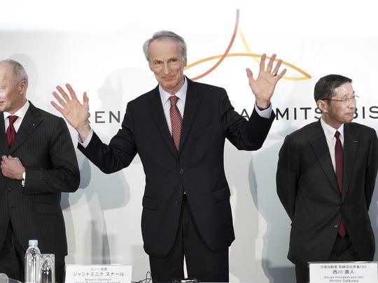 Jean-Dominique Senard,Thierry Bollore,Hiroto Saikawa
